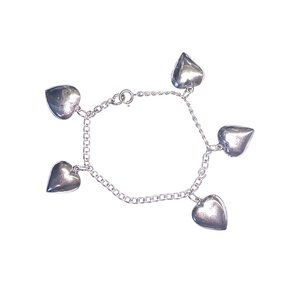 Charm Bracelet - Sterling Silver with Hearts
